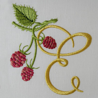 Wild Raspberries Alphabet- E