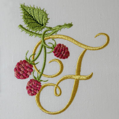 Wild Raspberries Alphabet- F