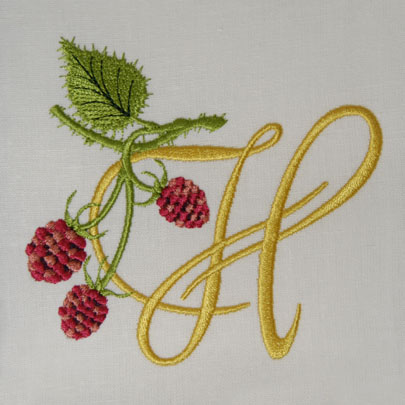 Wild Raspberries Alphabet- H