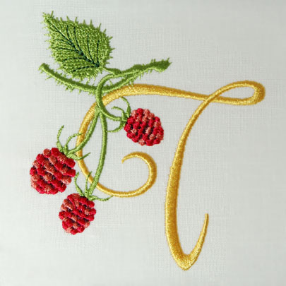 Wild Raspberries Alphabet- T