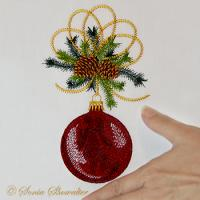 Christmas Pine Angel Ball ( Large)