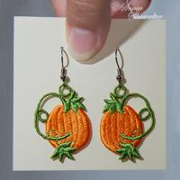 Pumpkin & Vine Earrings