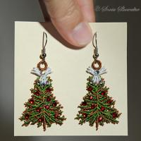 Christmas Tree Angel Earrings