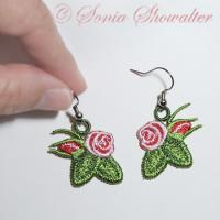 Heirloom Roses Earrings II