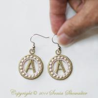 Charmed Earrings Alphabet- A