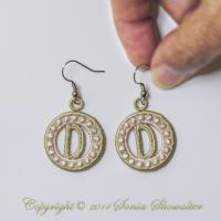 Charmed Earrings Alphabet- D