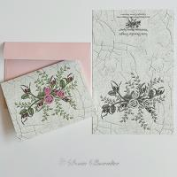 Heirloom Roses Spray (Cards For Printing)