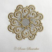 White Linen Medallion