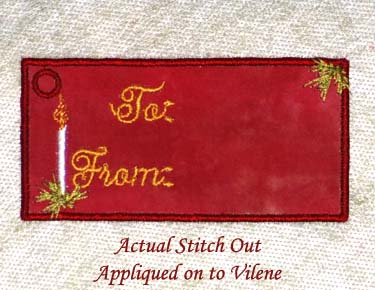 Candle Gift Tag (Free Standing Lace)