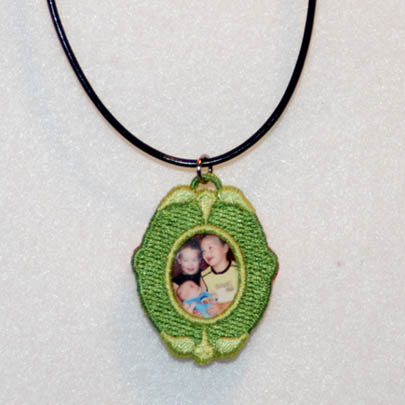 Easter Egg Pendant & Locket (Free Standing Lace)