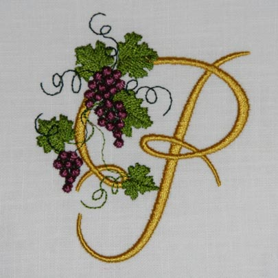 Fruit of the Vine Alphabet- P