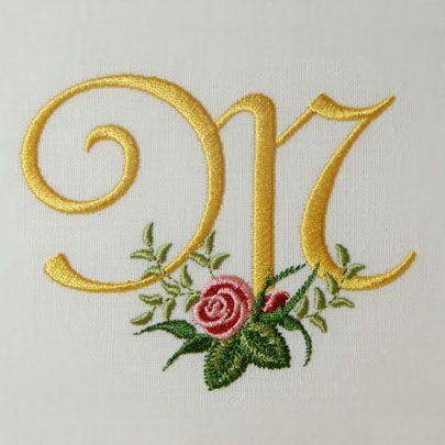 Heirloom Roses Alphabet- M