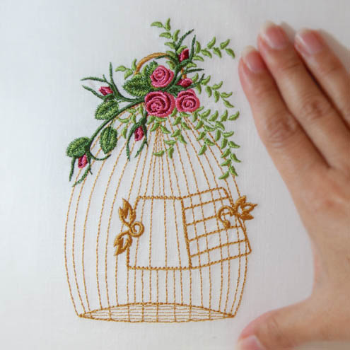 Heirloom Roses Bird Cage