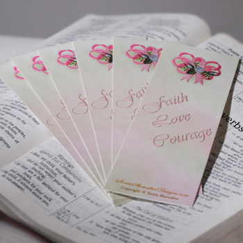 Heirloom Roses Ribbon Bookmarks ( For Printing)