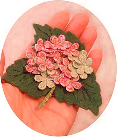 Hydrangea ( Pin or Magnet)