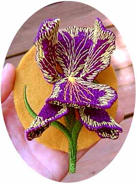 Iris Pin or Magnet