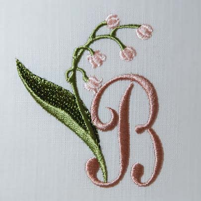 Lily of the Valley Alphabet- B