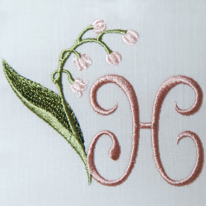 Lily of the Valley Alphabet- H