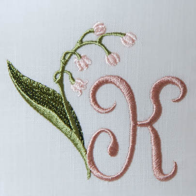 Lily of the Valley Alphabet- K