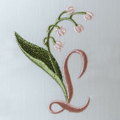 Lily of the Valley Alphabet- L