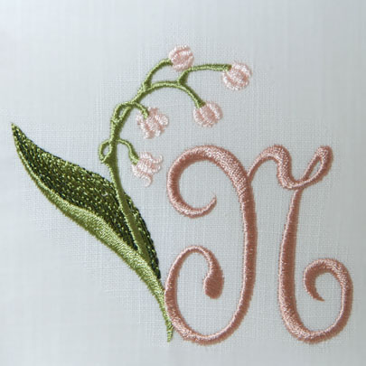 Lily of the Valley Alphabet- N
