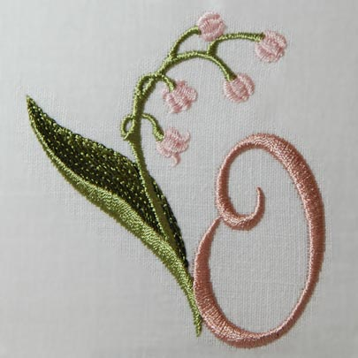 Lily of the Valley Alphabet- O