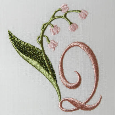 Lily of the Valley Alphabet- Q