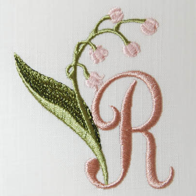 Lily of the Valley Alphabet- R