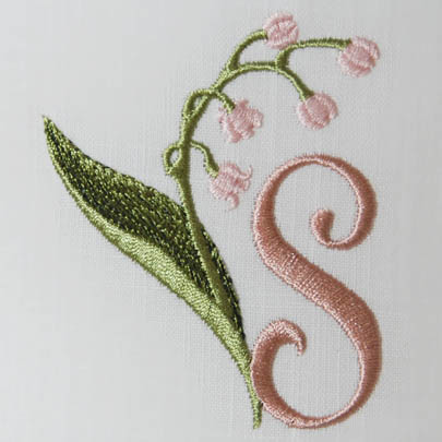 Lily of the Valley Alphabet- S