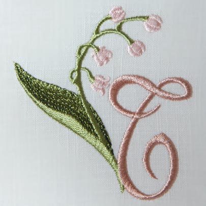 Lily of the Valley Alphabet- T
