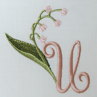 Lily of the Valley Alphabet- U