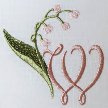 Lily of the Valley Alphabet- W