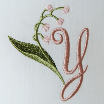 Lily of the Valley Alphabet- Y