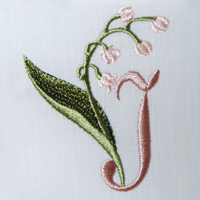 Lily of the Valley Alphabet- i