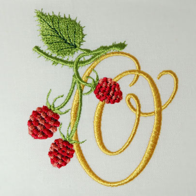 Wild Raspberries Alphabet- O