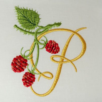 Wild Raspberries Alphabet- P