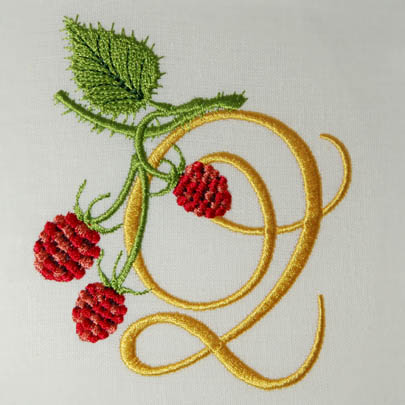 Wild Raspberries Alphabet- Q
