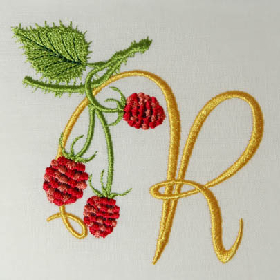Wild Raspberries Alphabet- R