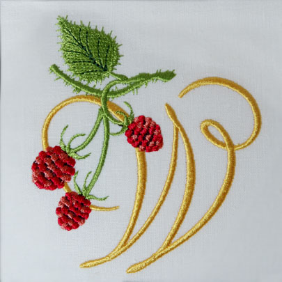 Wild Raspberries Alphabet- W