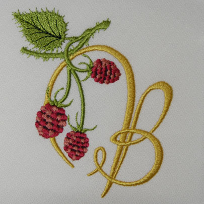 Wild Raspberries Alphabet- B