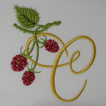 Wild Raspberries Alphabet- C