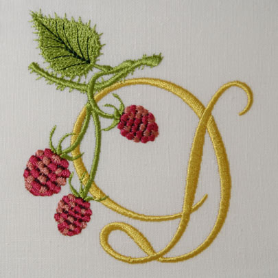 Wild Raspberries Alphabet- D
