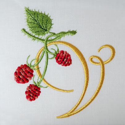 Wild Raspberries Alphabet- V