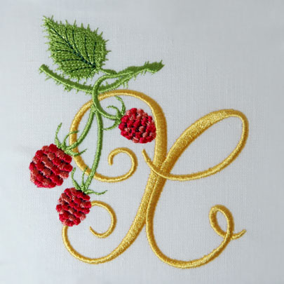 Wild Raspberries Alphabet- X