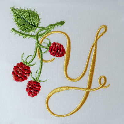 Wild Raspberries Alphabet- Y