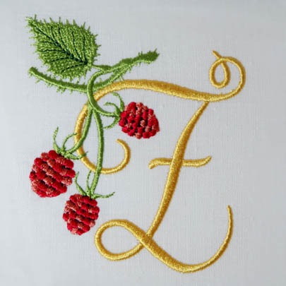 Wild Raspberries Alphabet- Z