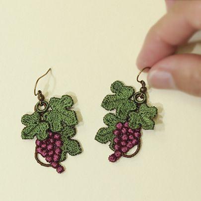 Fruit Of The Vine Earrings Sonia Showalter Designs