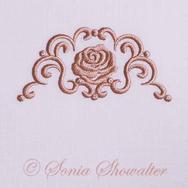 Whitework Linen Border U0026 Rose Sonia Showalter Designs