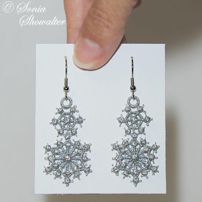 Snowflake Earrings Sonia Showalter Designs